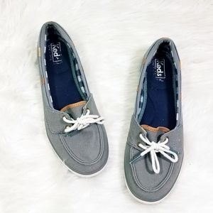 Keds Charter Chambray Boat Shoes Loafers